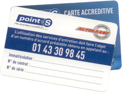 Carte accréditive Point.S/Autolease